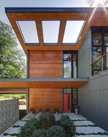 Elementos constructivos de pequeña casa moderna