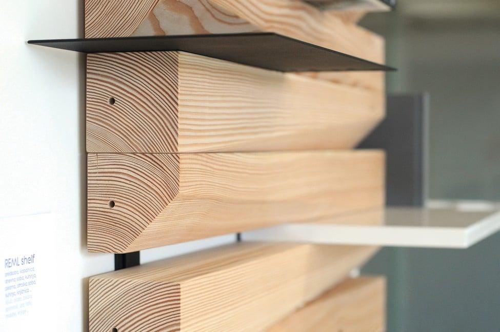 Dise o de estante de madera estanter a moderna y versatil - Estantes para pared ...
