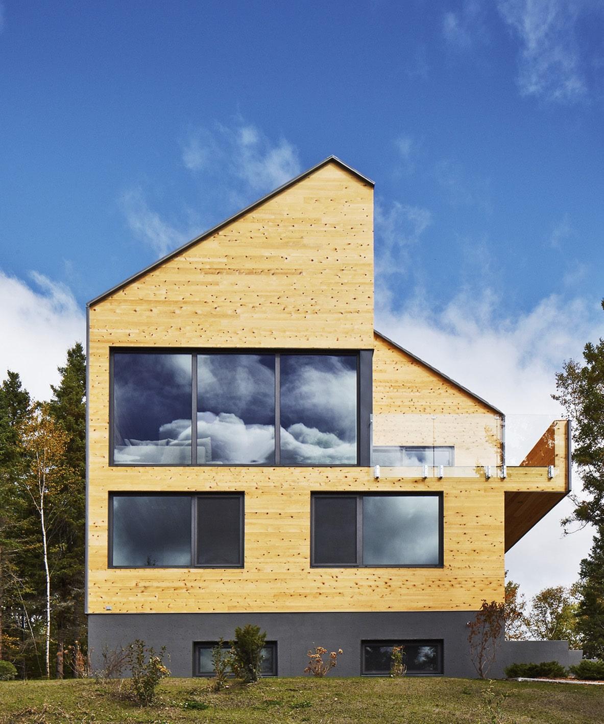 Diseño de casa moderna de dos pisos más sótano [Planos] | Construye ...