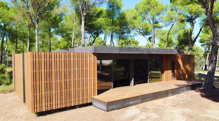 Dise o de casa pasiva con nuevo sistema prefabricado for Maison pop up house