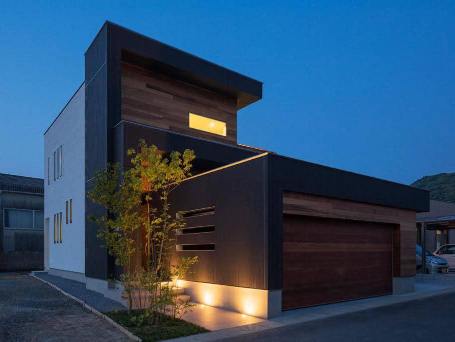 Dise o de moderna casa de dos plantas con planos de vivienda for Fachadas modernas para casas de tres pisos