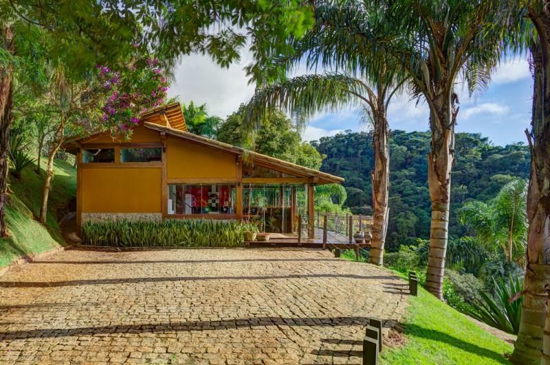 Dise o de casa de campo planos interior y fachadas for Fachadas frontales de casas