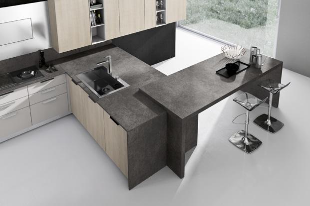 Dise o de cocinas modernas modelos simples y elegantes for Cocinas en l con isla
