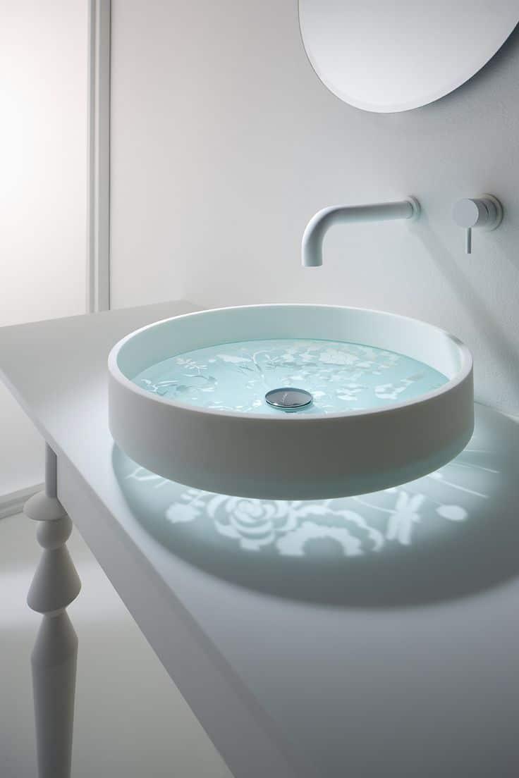 lavatorio con base de cristal - Lavabos De Diseo