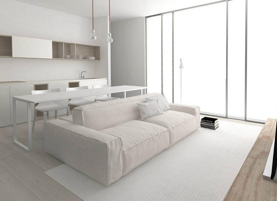 Planos de apartamentos peque os de uno y dos dormitorios for Decoracion minimalista para departamentos pequenos