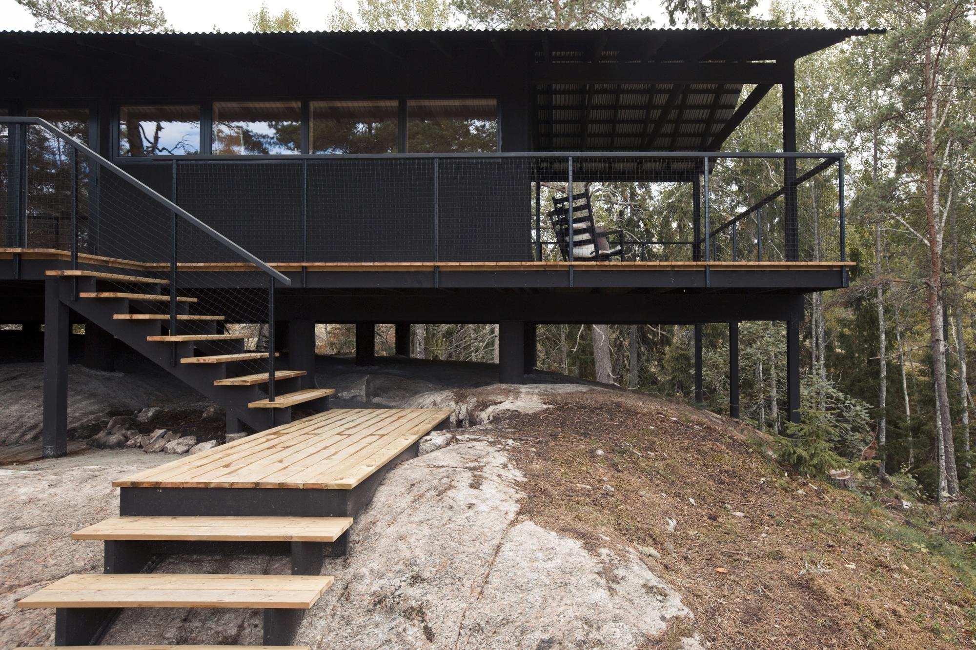 Dise o de casa peque a de madera fachada planos - Casitas pequenas de madera ...