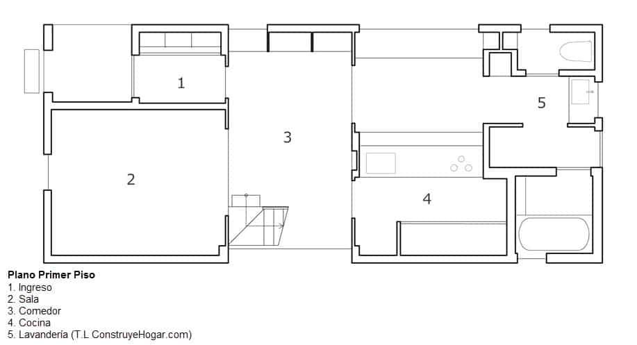 Planos de casa de dos pisos con fachada y dise o interior - Planos de casas de 2 pisos ...
