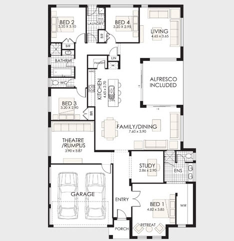 planos de casas modernas un piso