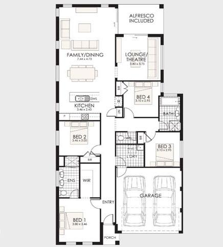 planos de casas en una planta