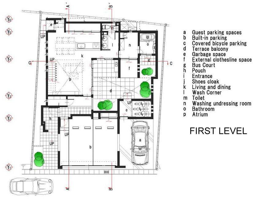 Dise o de moderna casa de dos plantas con planos de for Planos en linea