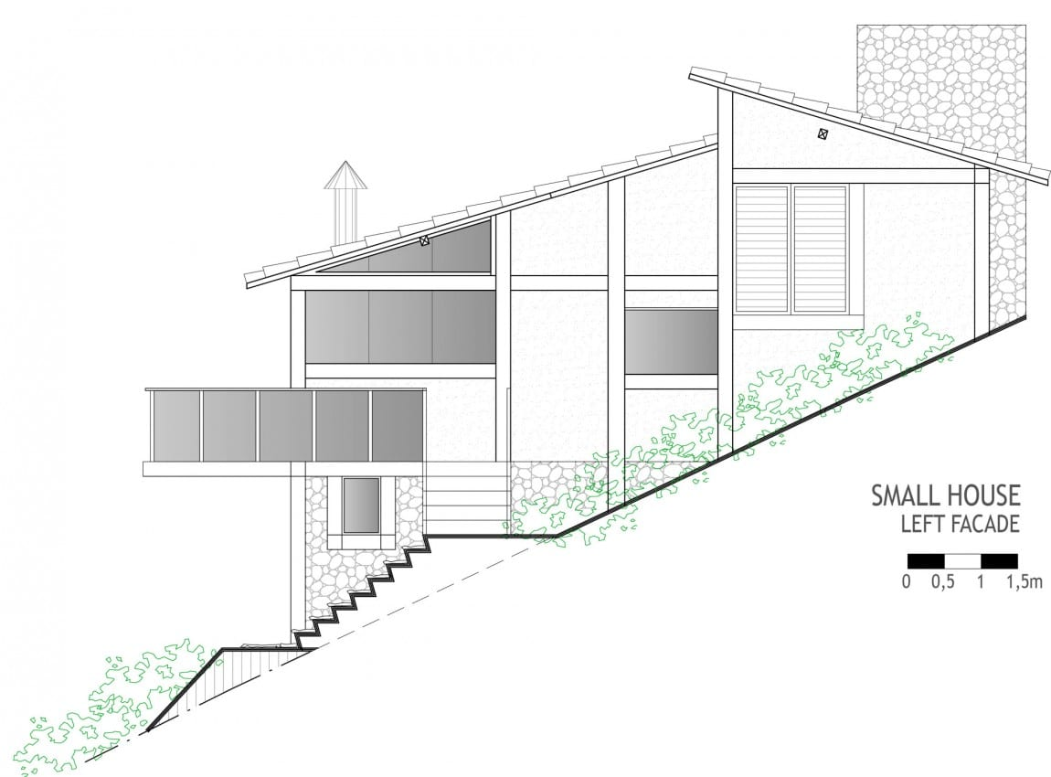 Dise o de casa de campo planos interior y fachadas for Disenos arquitectonicos casas