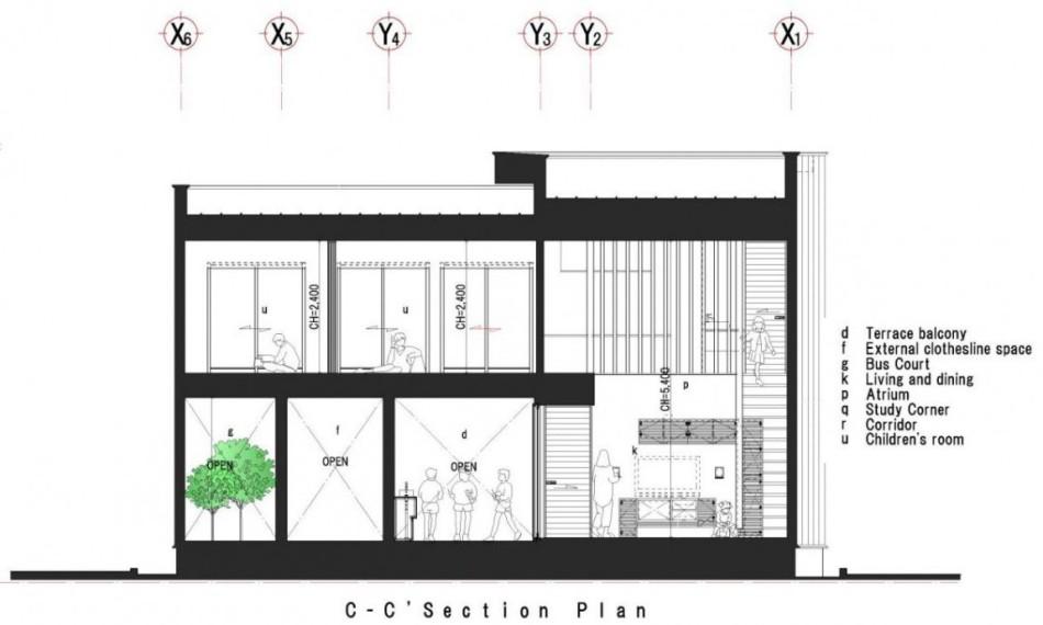 Dise o de moderna casa de dos plantas con planos de for Planos para tu casa