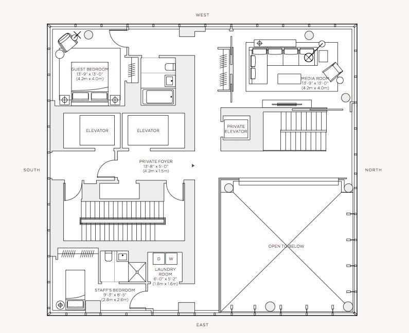 Diseo De Apartamento Lujo Con Decoracin Y Planos