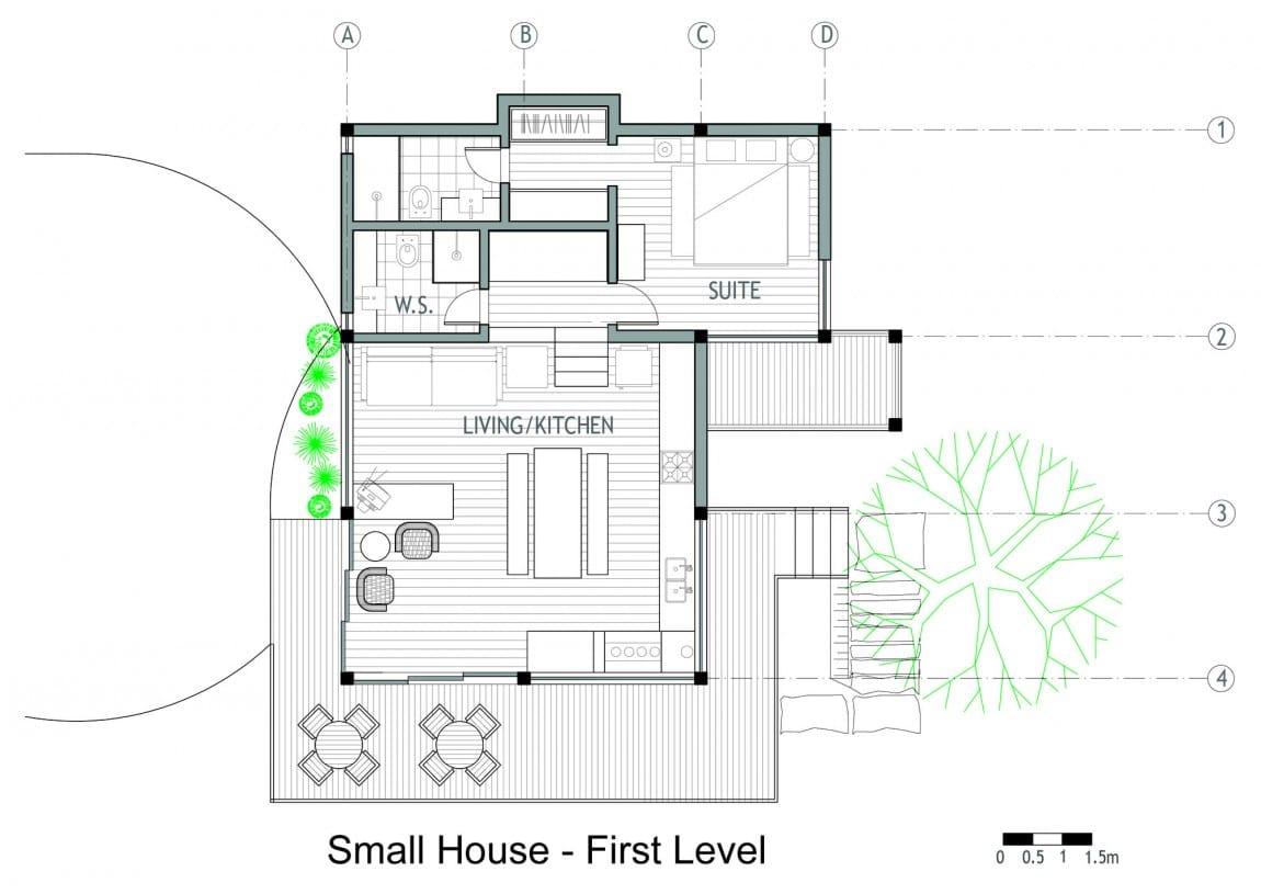 Dise o de casa de campo planos interior y fachadas for Planos de casas de campo rusticas