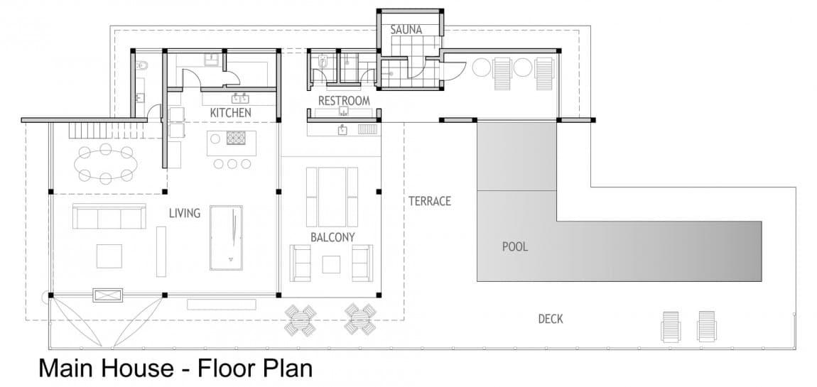 Dise o de casa de campo planos interior y fachadas for Planos de casas de campo