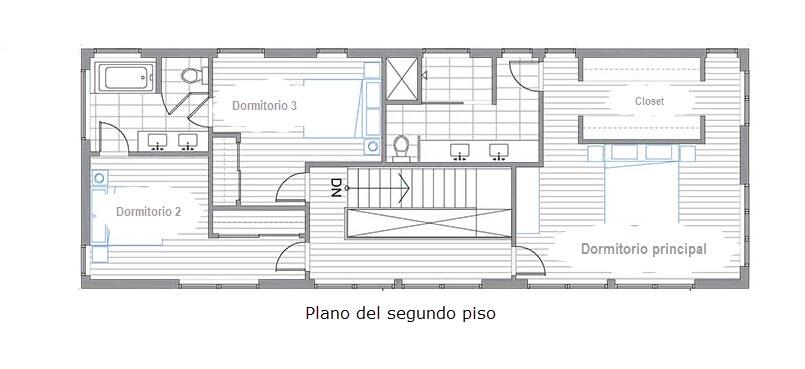 Planos de casa de dos pisos construcci n a bajo precio for Planos de viviendas de un piso