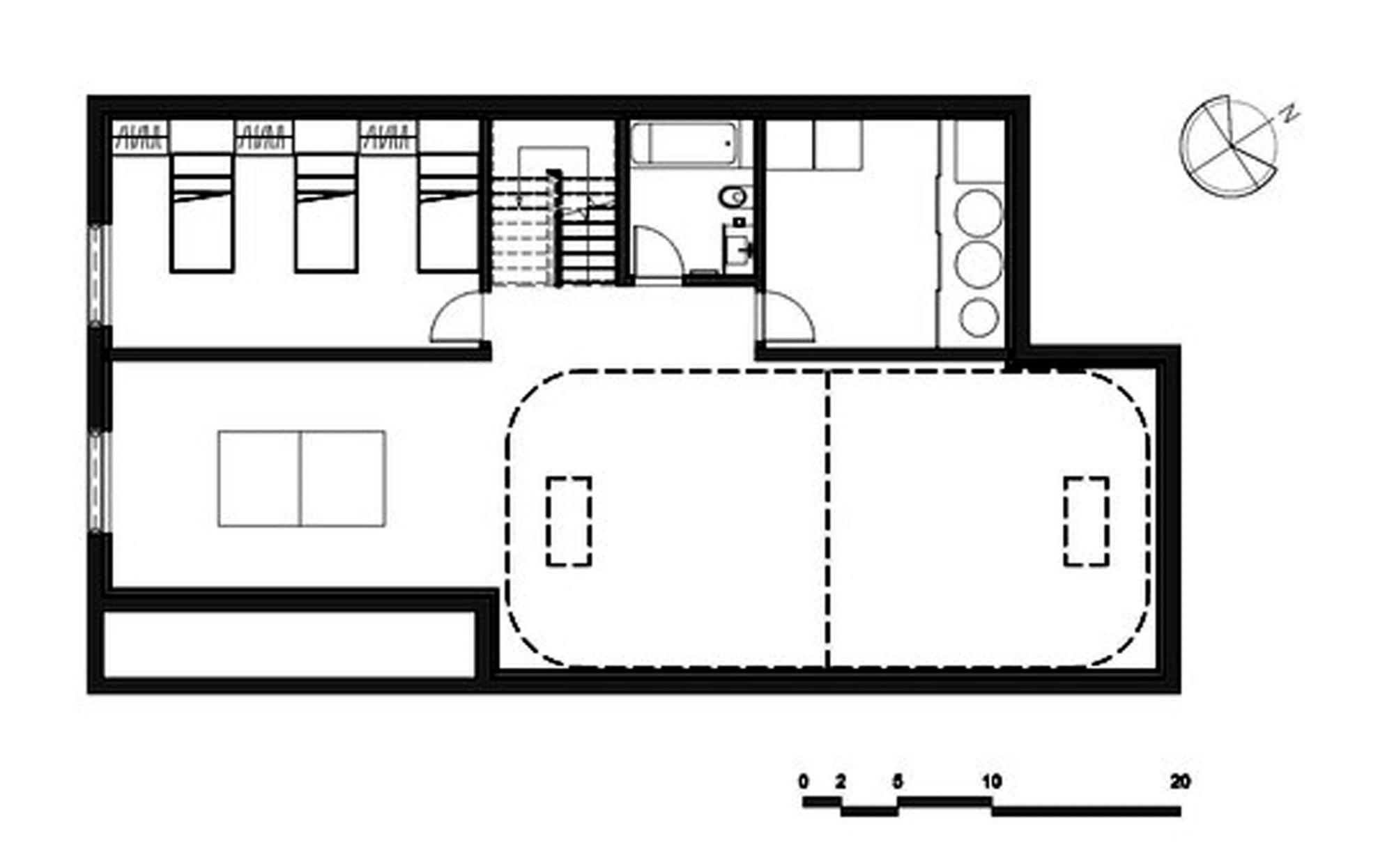 Dise o de casa moderna de dos pisos m s s tano planos - Bodegas en sotanos de casas ...