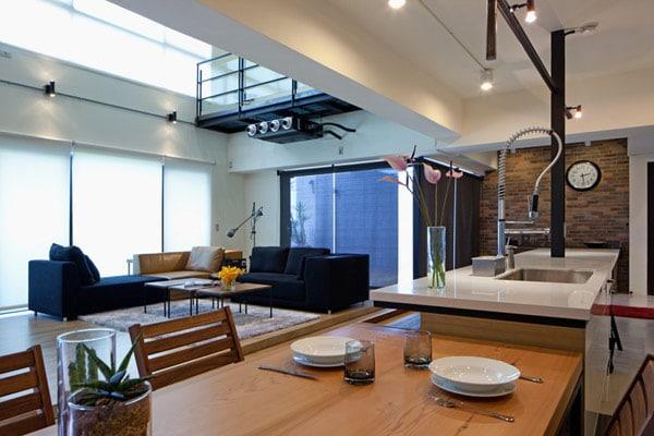 Dise o de apartamento en un almac n loft moderno for Diseno de lofts interiores