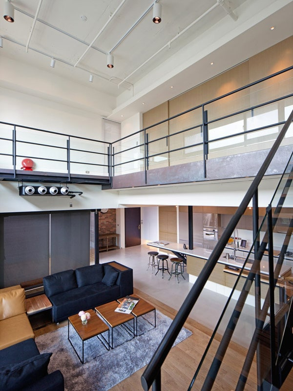 Dise o de apartamento en un almac n loft moderno for Como disenar un apartamento moderno