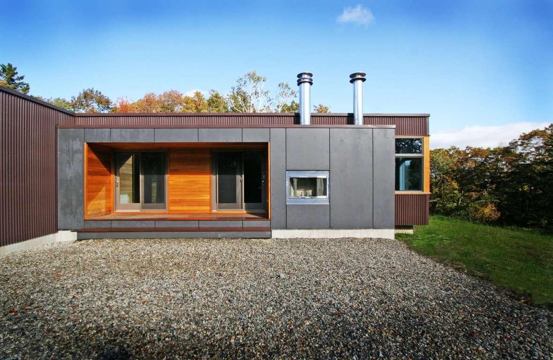 Dise o de casa en forma de l planos y fachadas for Donde queda terrazas
