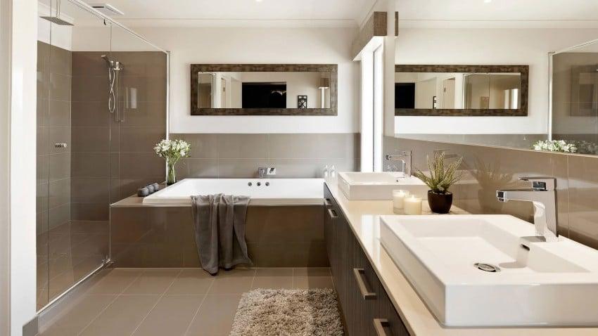 Casa de dos pisos moderna fachada y dise o de interiores construye hogar - Wastafel leroy merlin ...