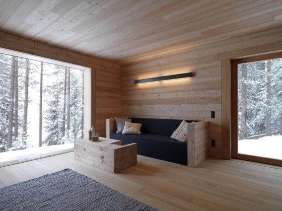 Diseño de interiores sala climas frios