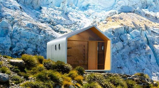 Diseño de cabaña moderna modular