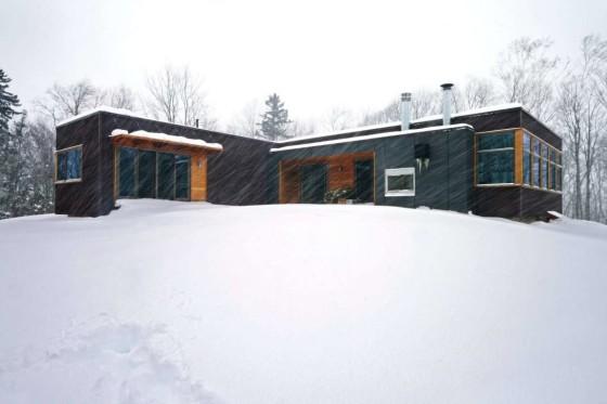 Diseño de casa de un nivel apropiada para todo clima