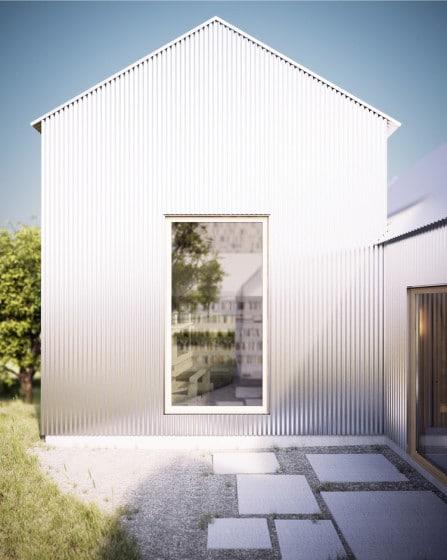 Diseño de casa de aluminio
