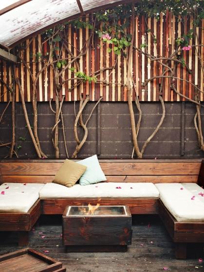 Diseño de la terraza de casa de madera