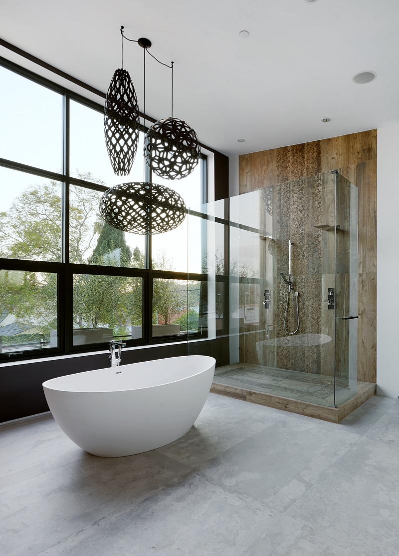 Dise o de casa moderna de dos pisos fachada e interiores for Diseno de interiores de casas planos