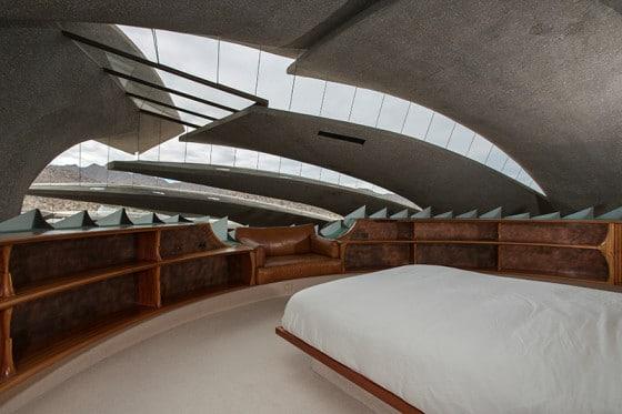 Diseño de dormitorio orgánico de gran dimensión