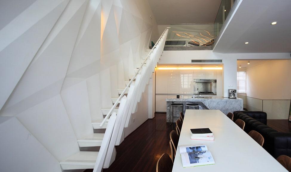 dise o de apartamento peque o tipo duplex sofisticado