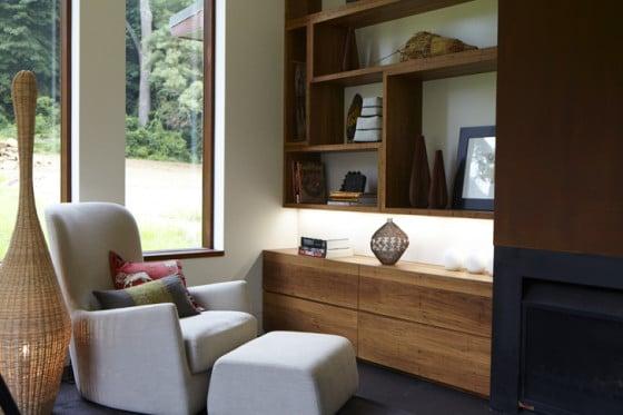 Diseño de estar de casa campo