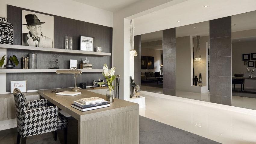 Casa de dos pisos moderna fachada y dise o de interiores - Estudios de diseno de interiores ...