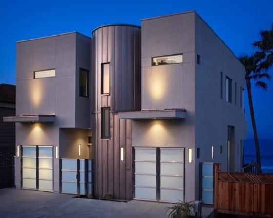 Diseño de fachada frontal de casa de playa
