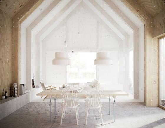Dise o de casa peque a revestida de aluminio corrugado for Diseno de interiores que se necesita