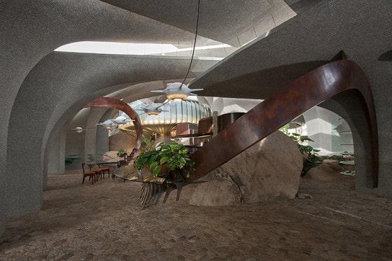 Diseño de interiores de casa orgánica