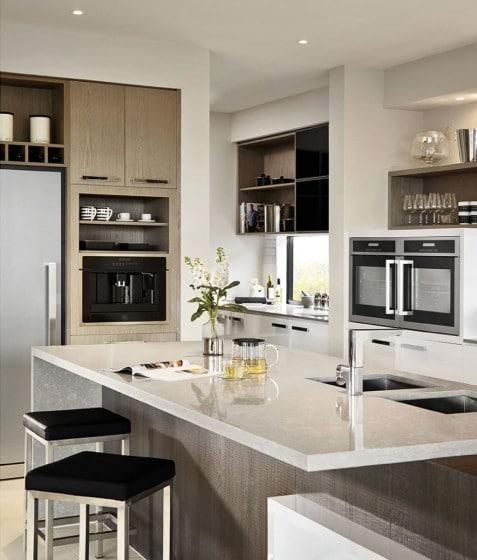 Diseño de isla de cocina de granito