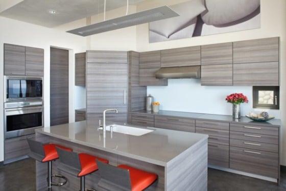 Diseño de moderna cocina gris