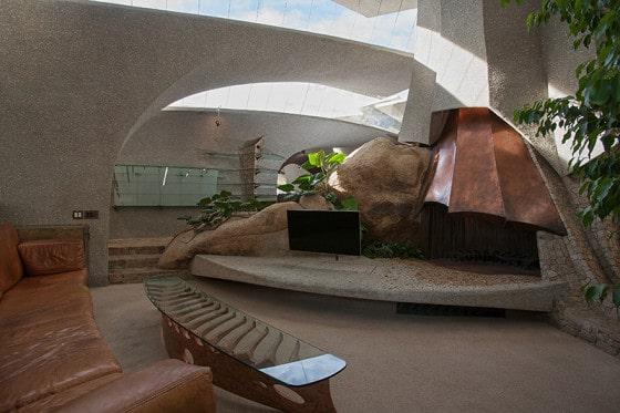 Diseño de sala de casa orgánica