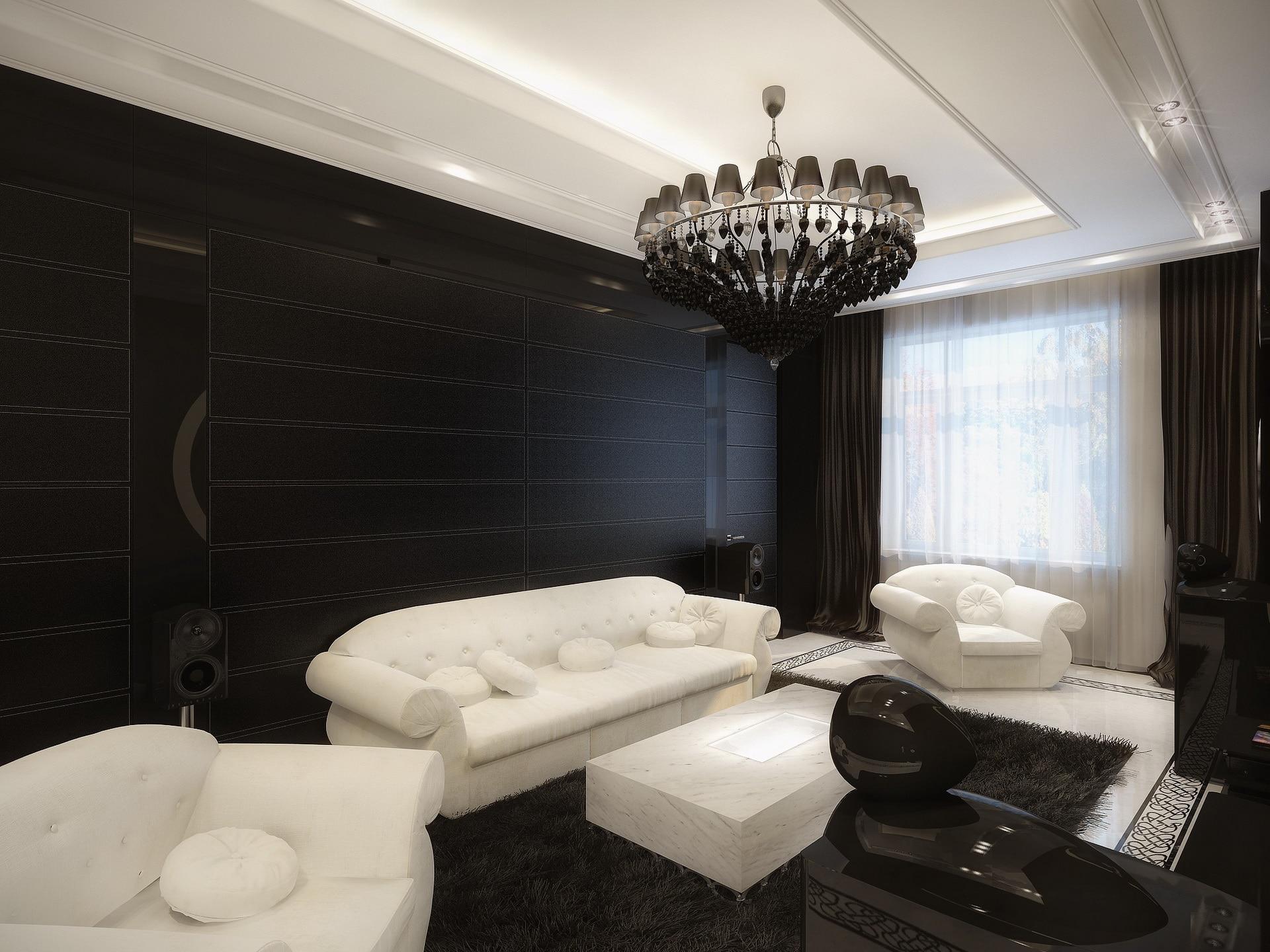 Decoraci n de interiores estilo retro fotos de dise os - Decoracion salon blanco y negro ...