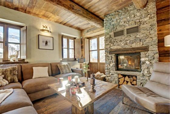 Diseño de interiores sala rústica