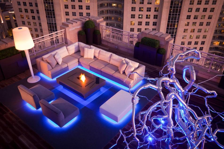 10 novedosos dise os de terrazas ideas de decoraci n for Luces led para terrazas