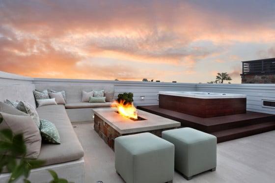 Diseño de terraza con jacuzzi