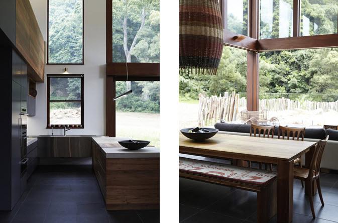 Dise o de interiores r stico de casa rural madera y - Juego de diseno de interiores ...