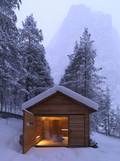 Fachada de casa pequeña climas fríos