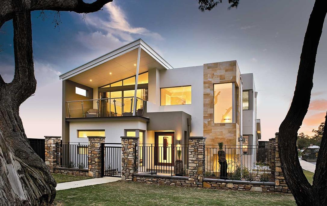 Moderna casa de dos plantas con dise o interior que inspira for Diseno de interiores de casas de dos plantas