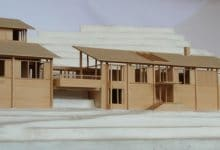 Photo of Diseño de casa en la montaña construida en madera, maqueta con detalles constructivos