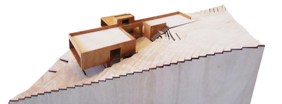 Maqueta de moderna casa 2